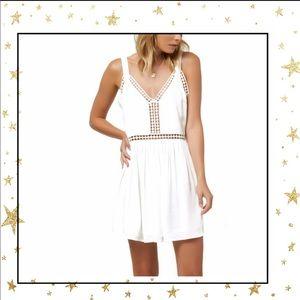 O'Neill Mariah White Woven Tank Dress Small (C5)